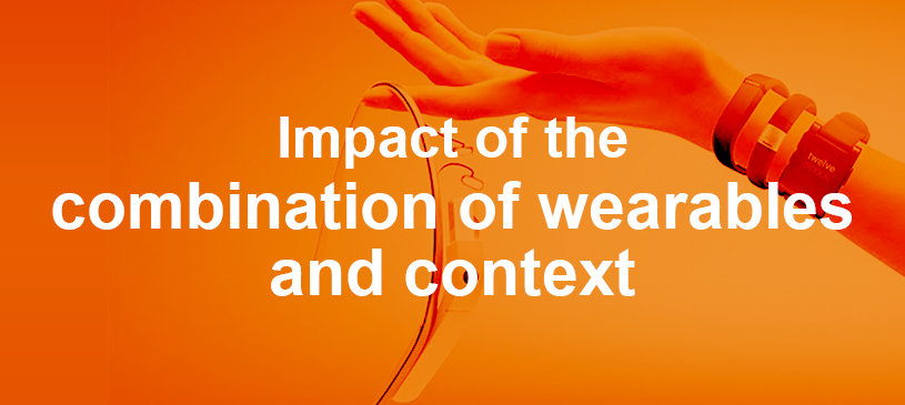 Impact of the combination of wearables and context