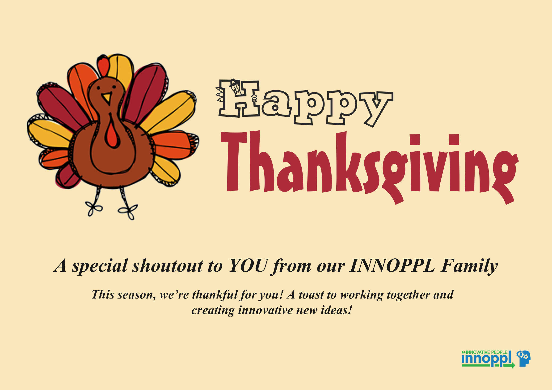 Innoppl Wishes You A Happy Thanksgiving