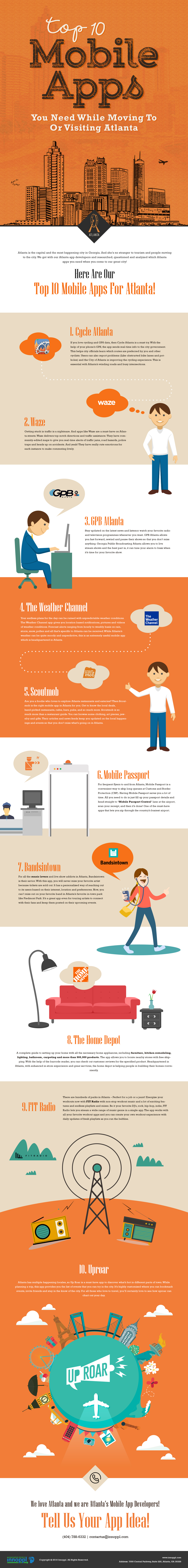 Top 10 Mobile Apps You Need When Moving To Or Visiting Atlanta [Infographic]