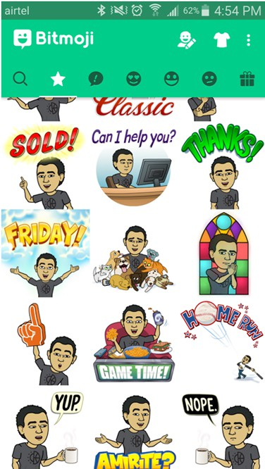 Entertainment Bitmoji Icons